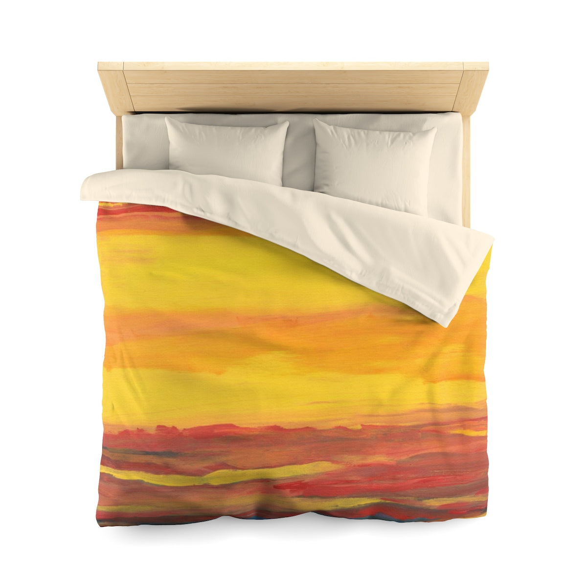 "SUNRISE SUNSET  Microfiber Duvet Cover TWIN 68"" x  88"""