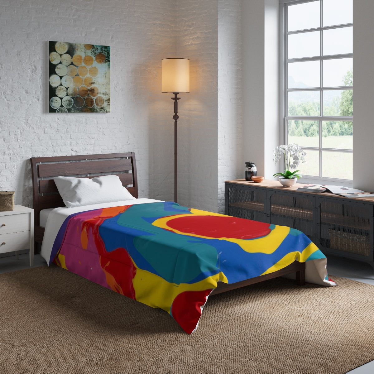 "COLOR MERGE  Comforter  68"" x  92"""