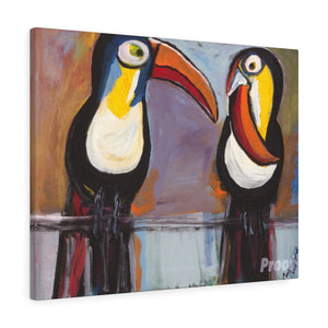 "TOUCANS  Canvas Gallery Wraps  16"" x 12"""