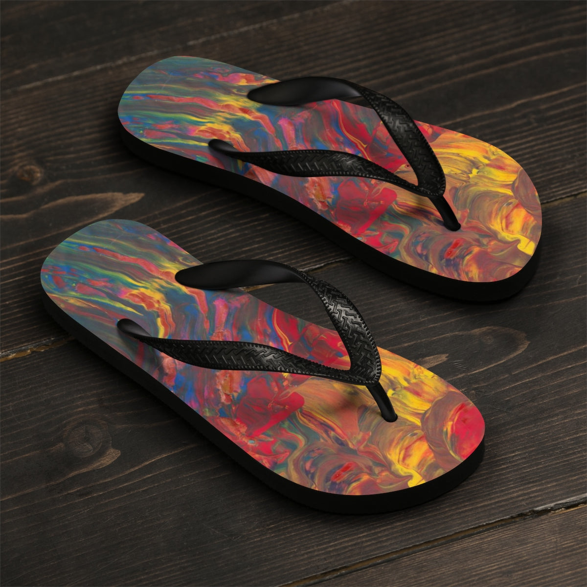 AFRICAN DANCERS   Unisex Flip-Flops  SIZES   SMALL -  LARGE