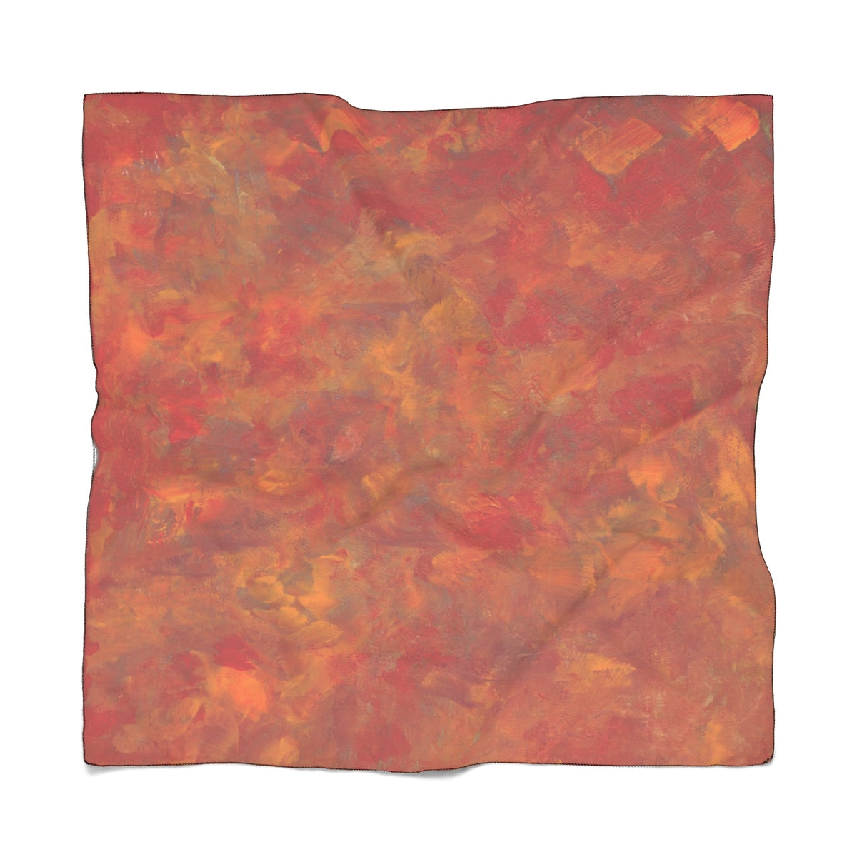 "LAVA FLOW Poly VOILE  Scarf  50"" x 50"""