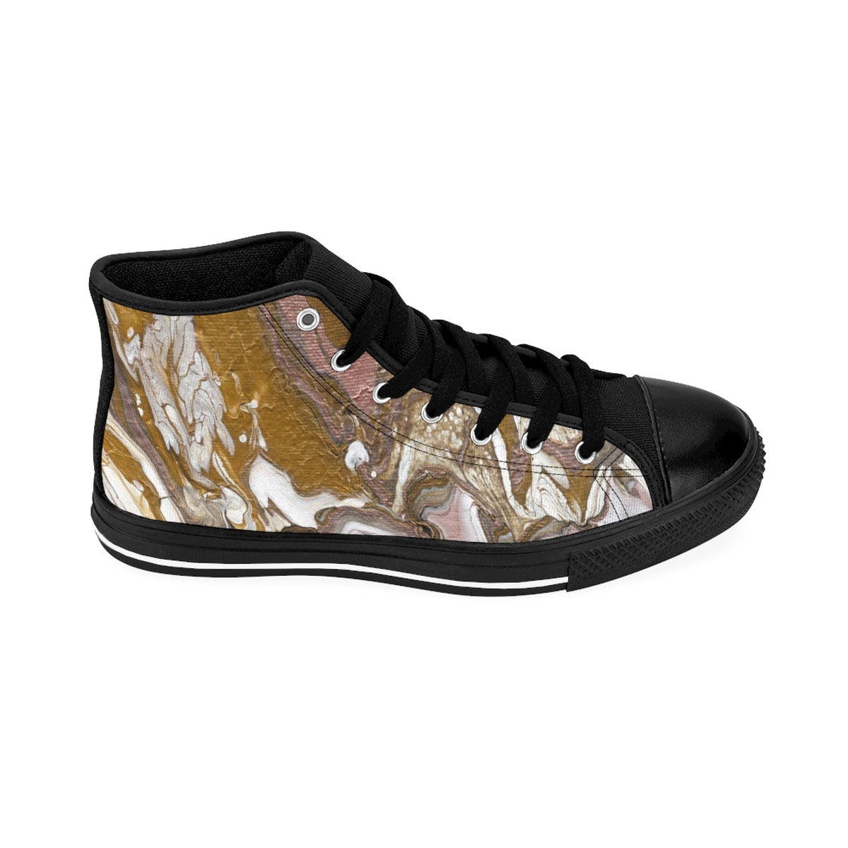 GOLD RUSH  Unisex High-top Sneakers  SIZES  6 - 12