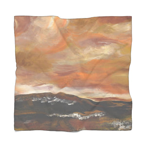 "GOLDEN VALLEY Poly VOILE  ScarF 50"" x 50"""