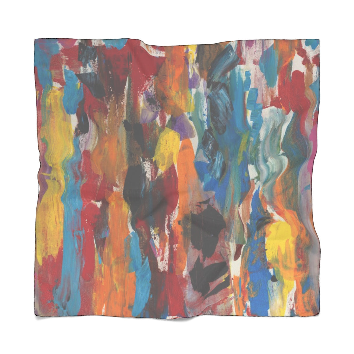 "COLOR FUSION Poly CHIFFON Scarf  25"" x  25"""