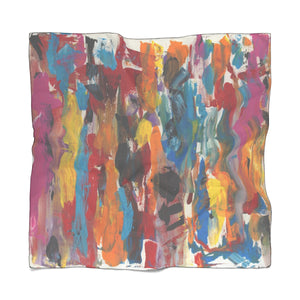 "COLOR FUSION Poly VOILE Scarf  50"" x 50"""