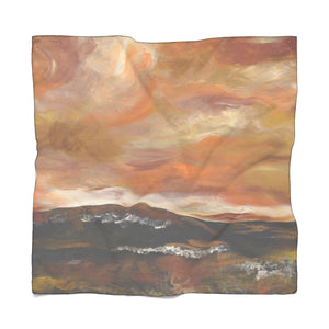 "GOLDEN VALLEY Poly CHIFFON  Scarf  50"" x 50"""