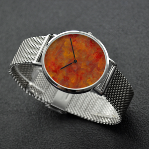 LAVA FLOW 30 Meters Waterproof Quartz Fashion Watch With Casual Stainless Steel Band