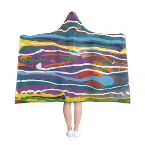 "MARDI GRAS Hooded Blanket  80"" x 56"""