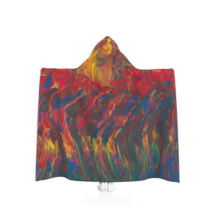 "AFRICAN DANCERS  Hooded Blanket  50"" x 40"""