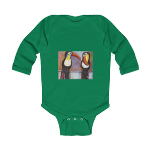 TOUCANS  Infant Long Sleeve Bodysuit  NB - 18 M