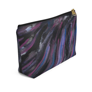 PURPLE RAIN Accessory Pouch w T-bottom  LARGE