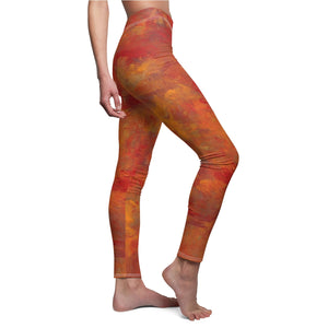 LAVA FLOW  Women's Cut & Sew Casual Leggings  XS - 2XL