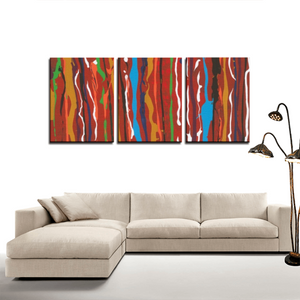 CARNIVAL 3 Panels Canvas Prints Wall Art for Wall Decorations