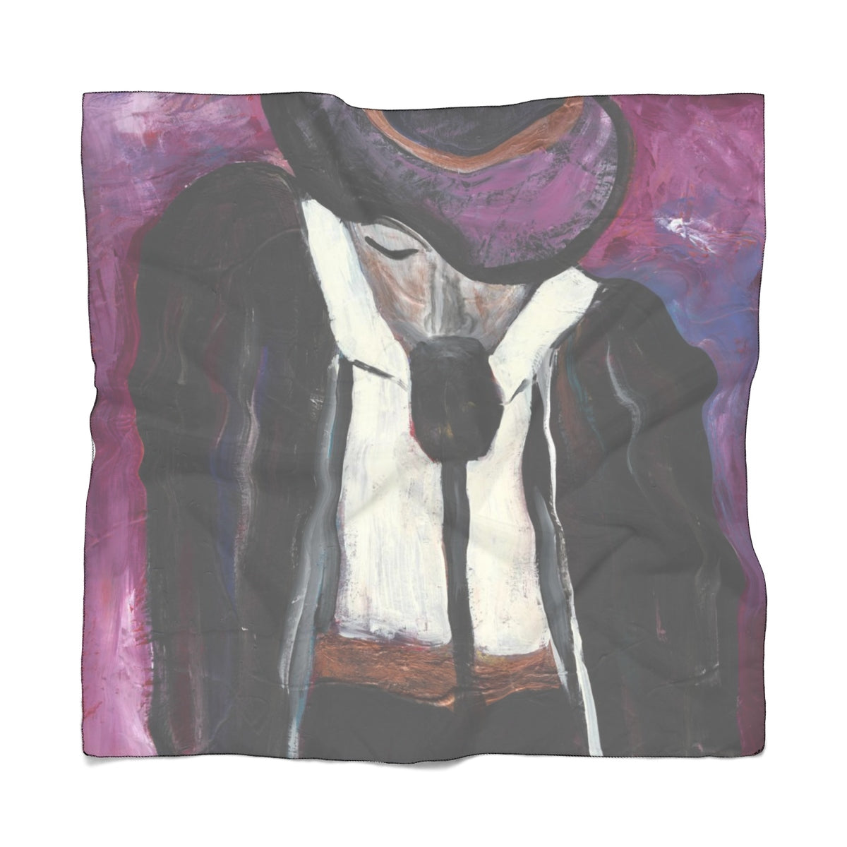 "THE ENTERTAINER Poly CHIFFON  Scarf  25"" x 25"""