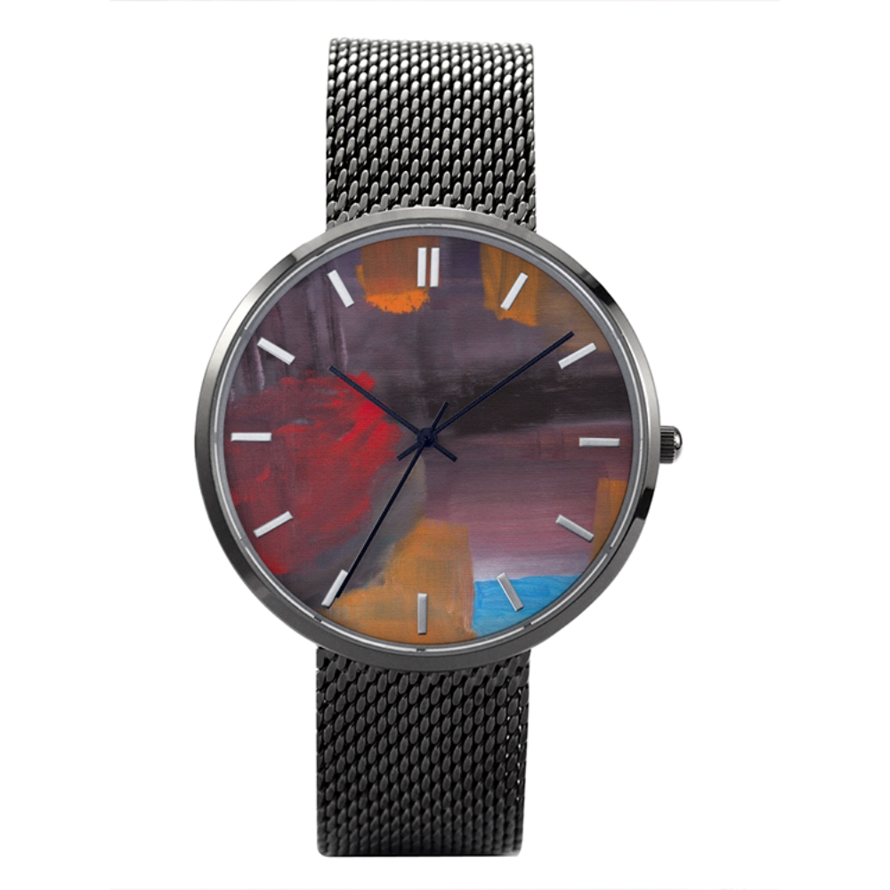 CAVE VIEW Quartz Watch With Casual Stainless Steel Band