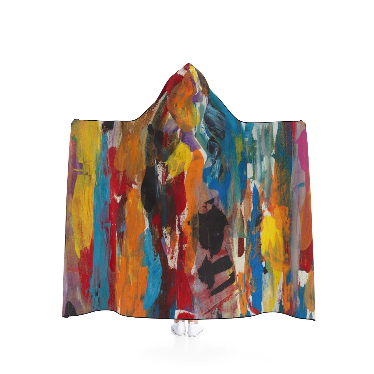 "COLOR FUSION UNISEX Hooded Blanket   80"" x 56"""