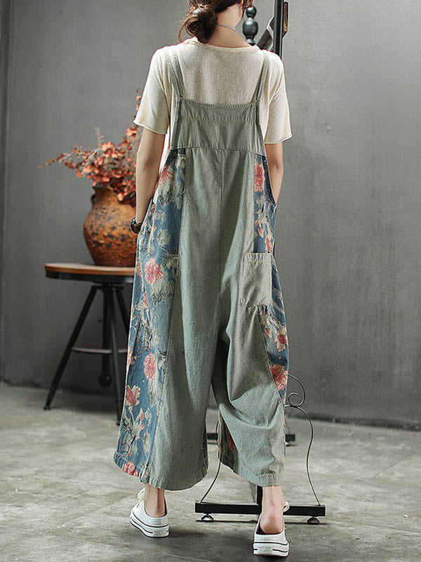 Loose Light Wide Leg Jumpsuits Bottom