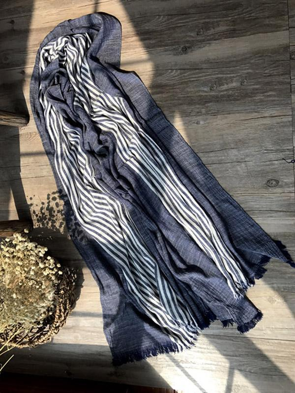 Fashion Tassels Stripe Cape Scarf
