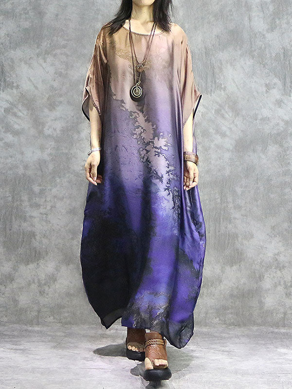 Loose National Printed 2-pieces Long Robe