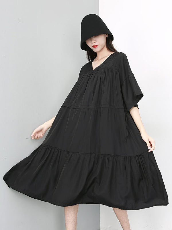 Super Loose A-line Big Hem Long Dress