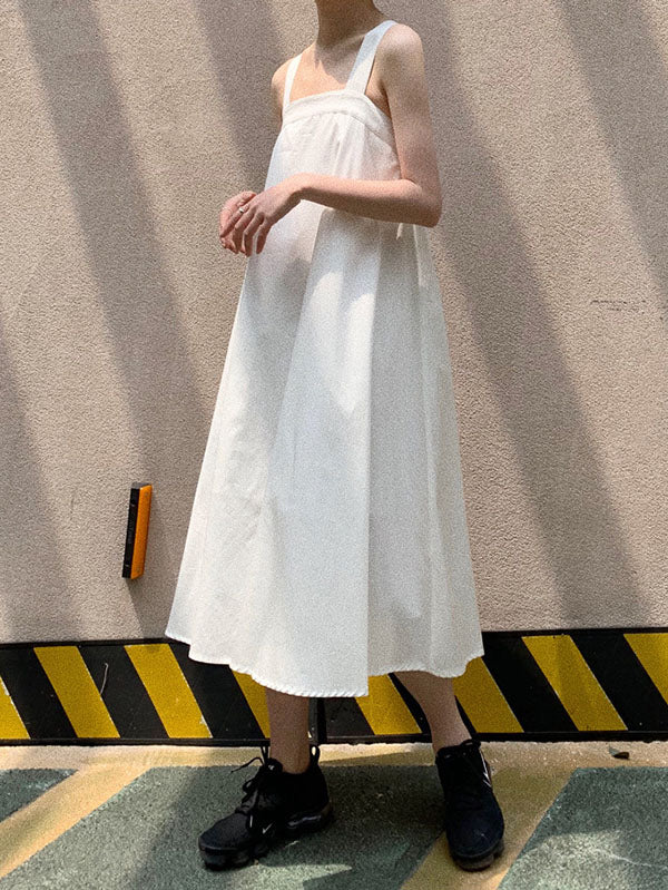 Casual Bowknot Designed Slip Dress