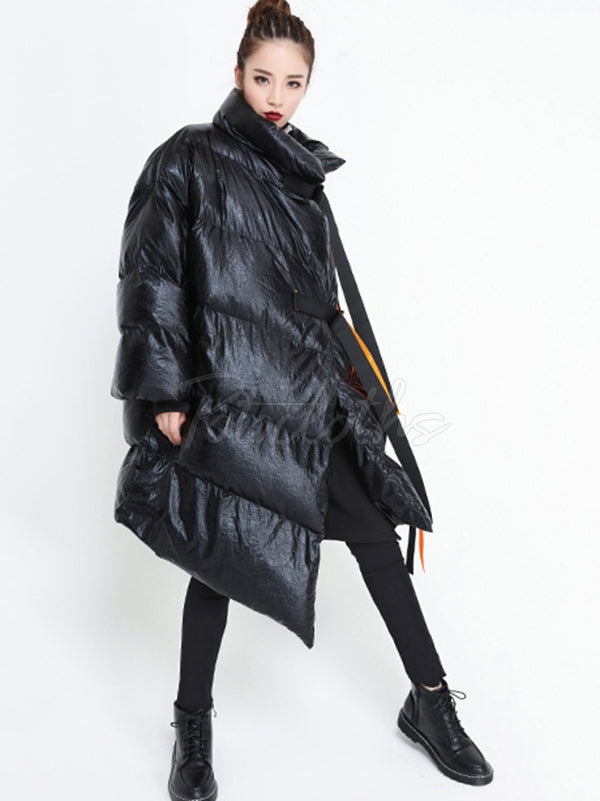 Loose Belted Thicken Warm Down Coat