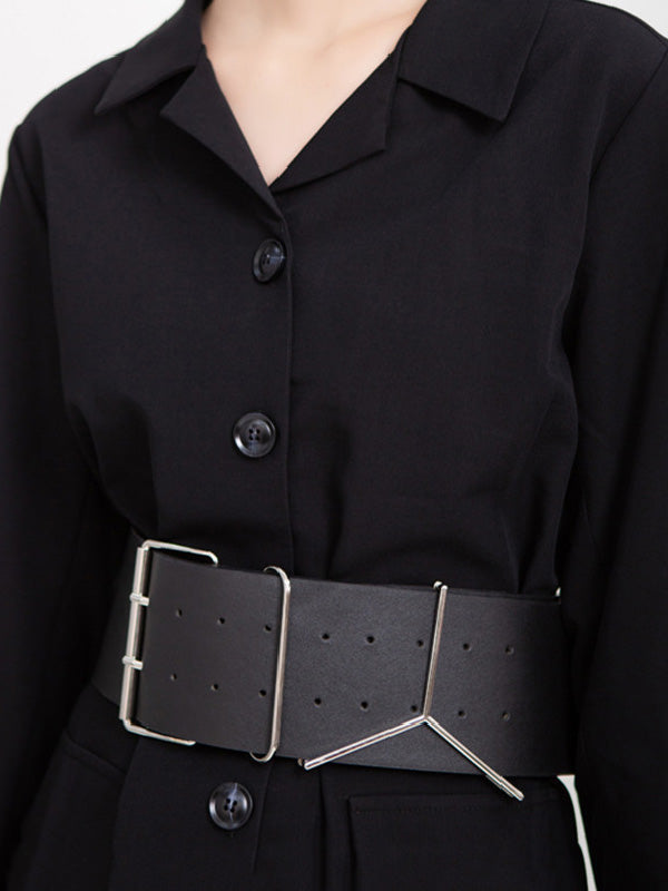 Simple PU Waist Belt