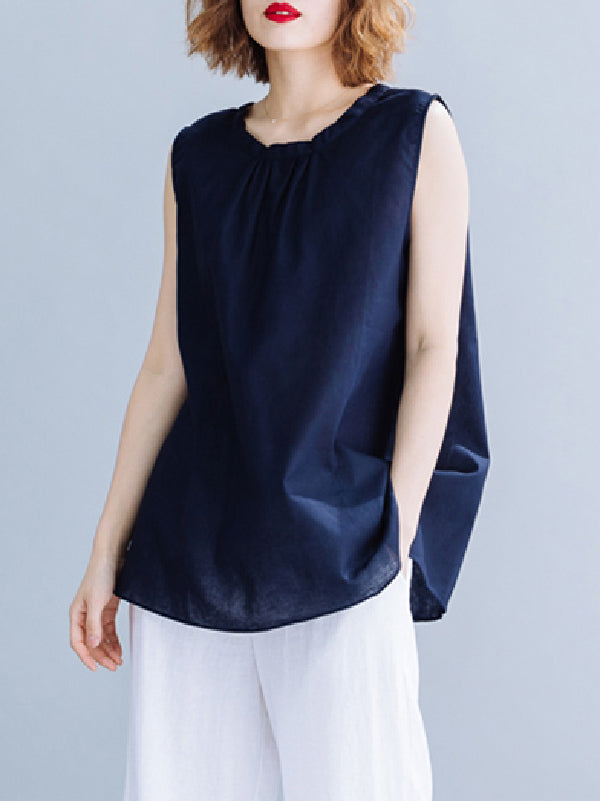 Elegant Cotton Sleeveless T-SHirt