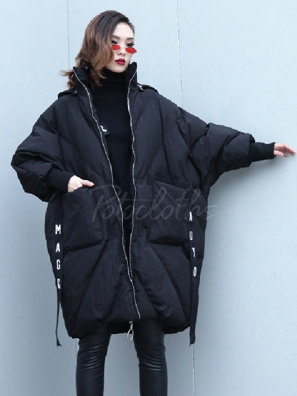 Loose Warm Hooded Cotton-padded Jacket