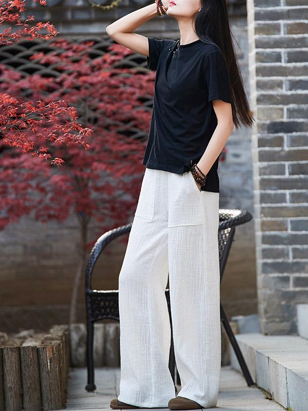 Comfortable Double Slubbed Gauze Pants