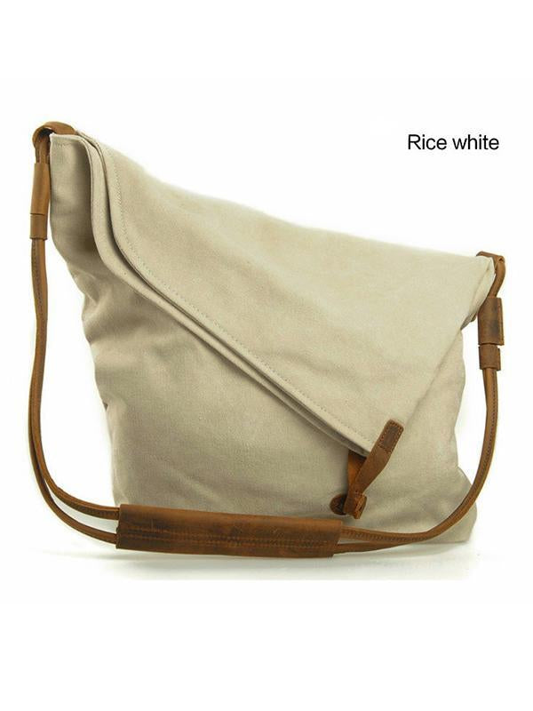 Simple Literature Worn Shoulder Convas Bag
