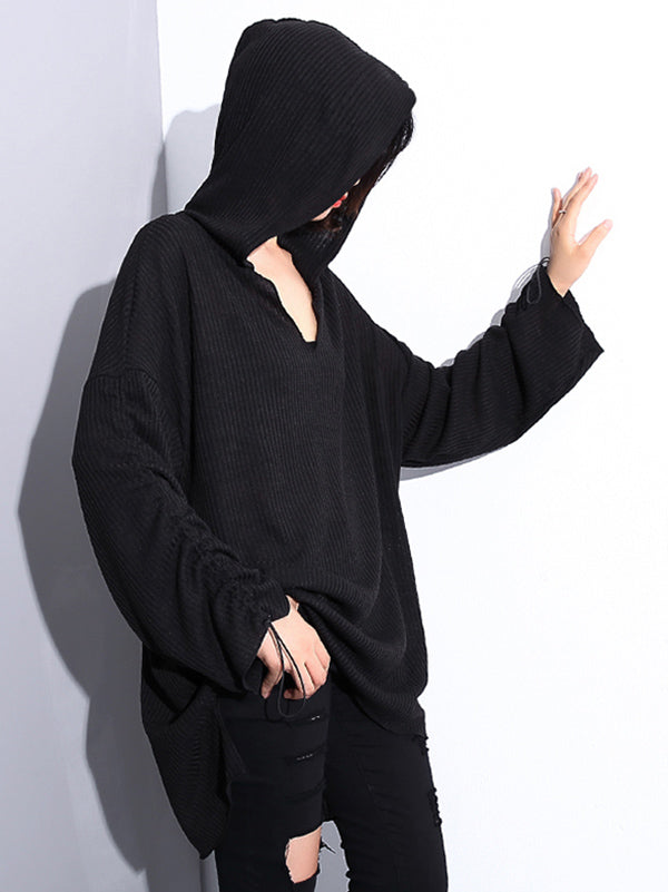 Casual Knitting Light Hoodies