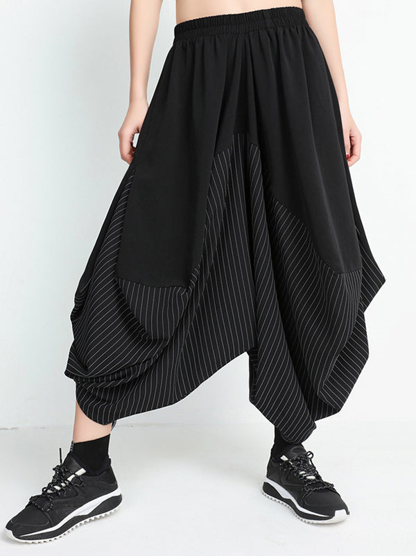 Irregular Split-joint Harem Pants
