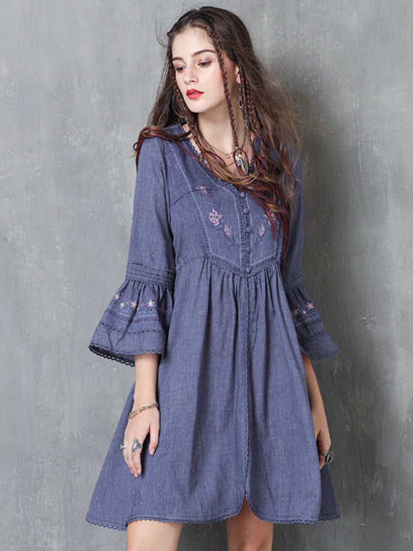 Vintage Cotton Embroidered Dress