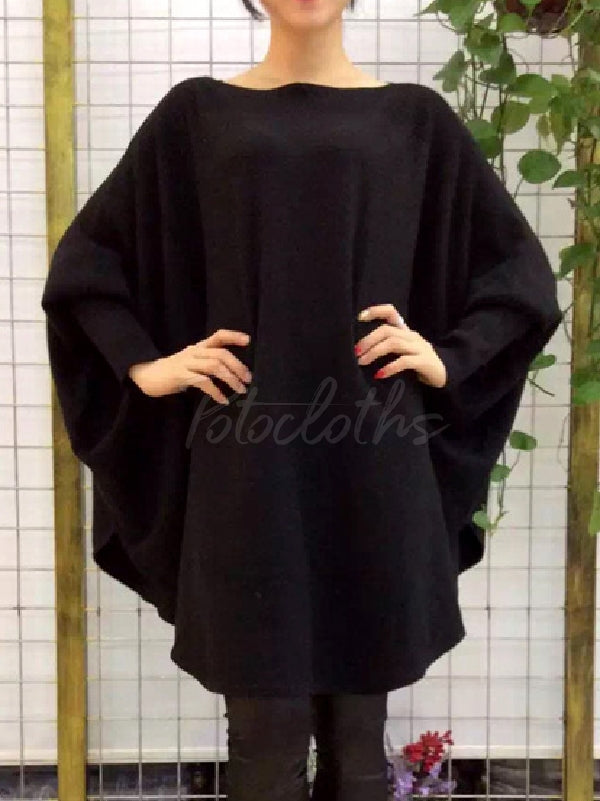 Loose Big Batwing Sweater