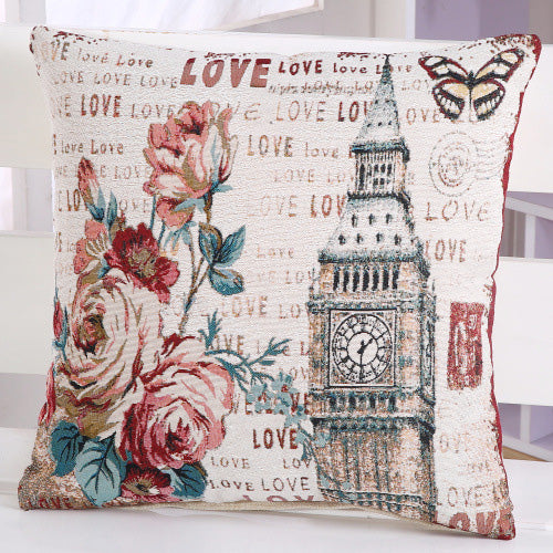 LOVE Printed Floral Pillow Case