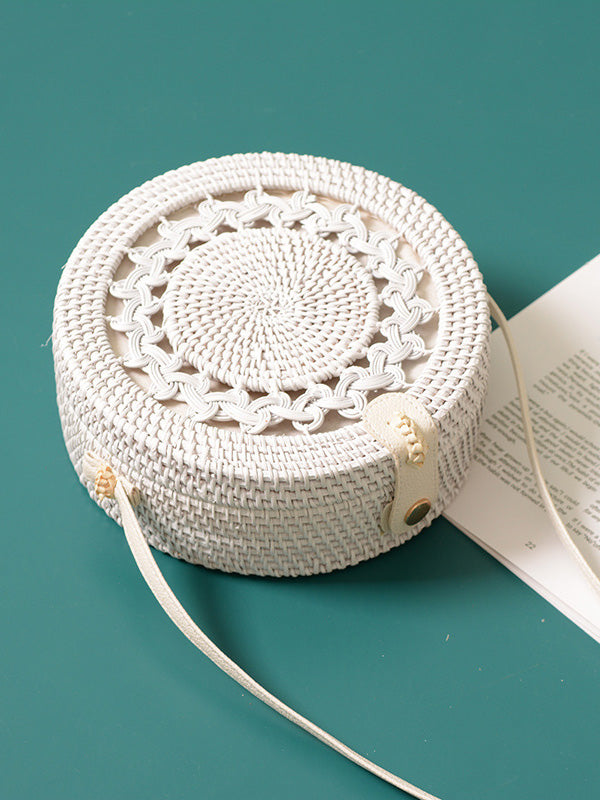 Rattan Bohemia Round Little Bag