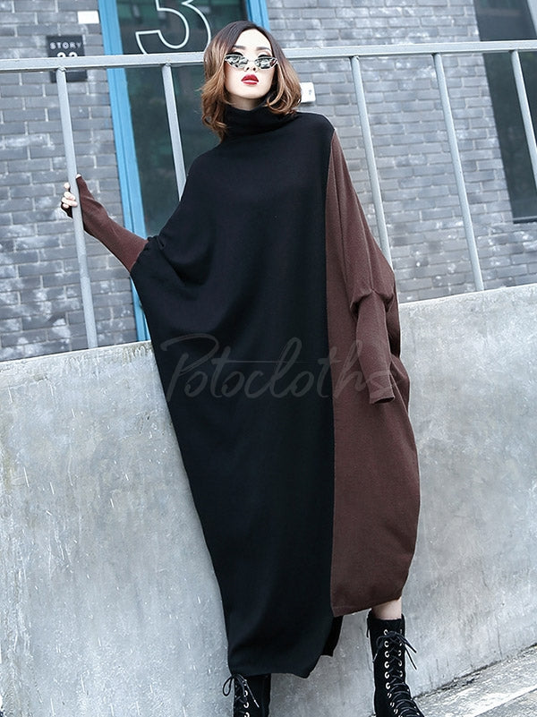 Loose Split-Joint Long Dress