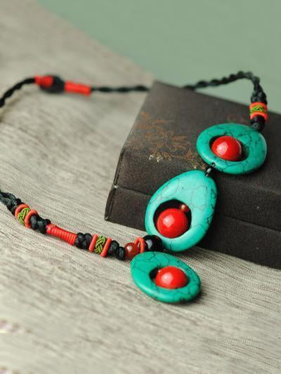 Handmade Turquoise Clavicle Necklaces Accessories