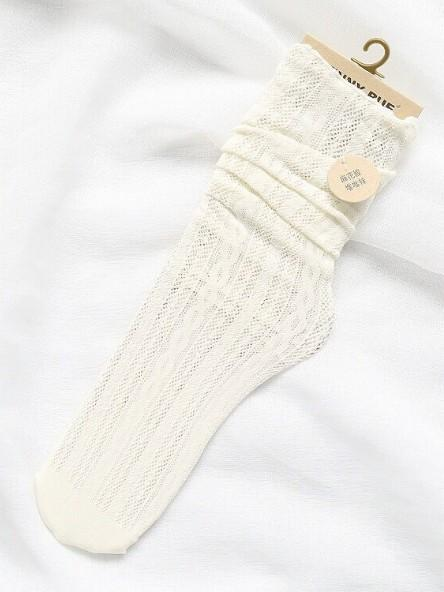 Cutie Stringy Selvedge Hollow Knee-socks