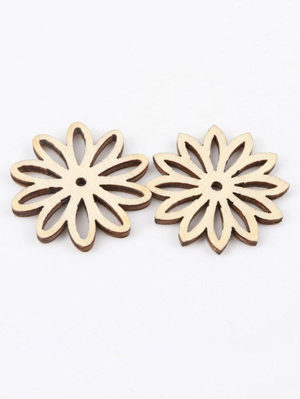 Hollow Flower Pattern Wood Piece