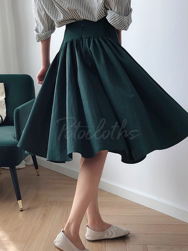 Loose A-Line Big Hem Skirt