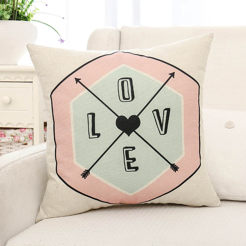 Love Letter Printed Pillow Case