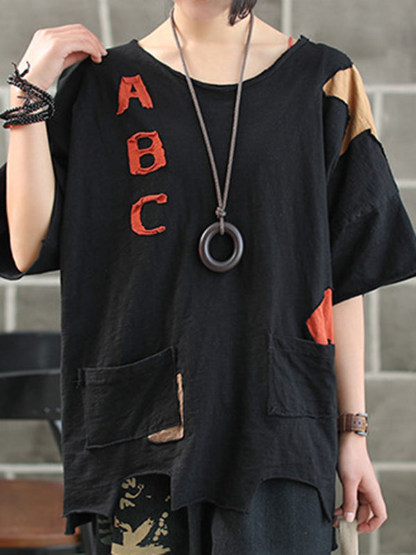Casual Vintage Cropped T-shirt
