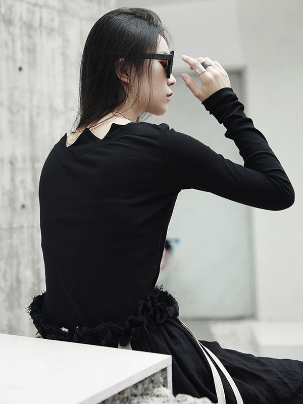 Solid Long Sleeves Shirt Top