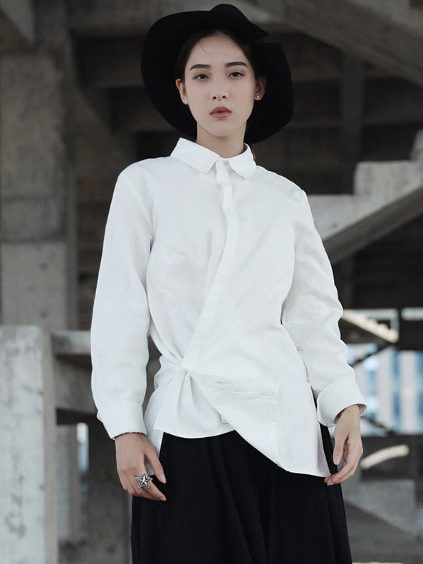 Vintage Ramie Cropped Shirt Tops