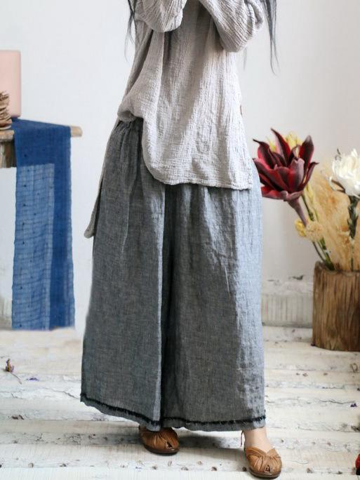 Pure Color Comfortable Super Loose Linen Cotton Pants
