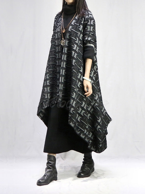 Vintage Printed Cape Outwears