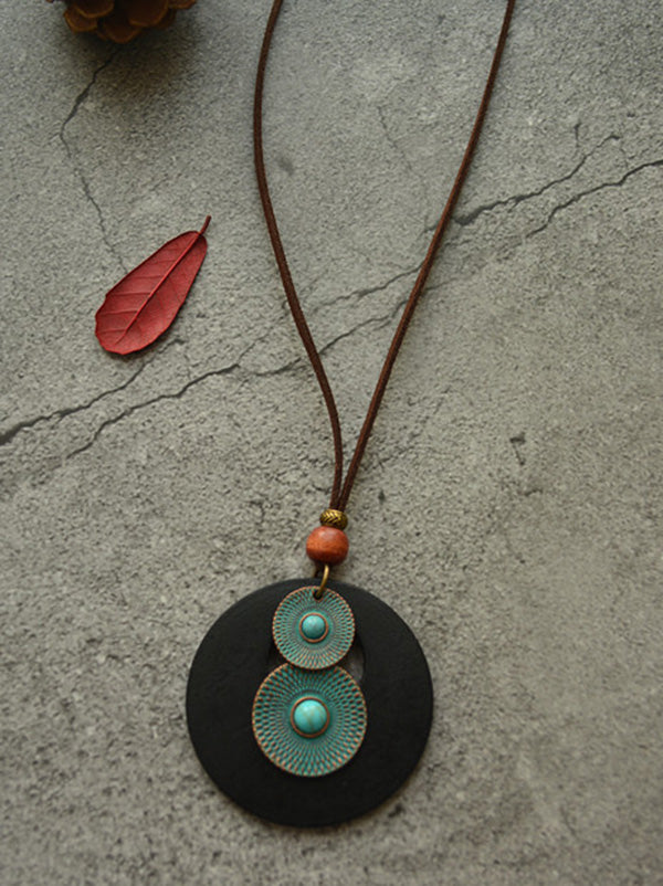 Simple Wood Aerugin Necklace Accessories
