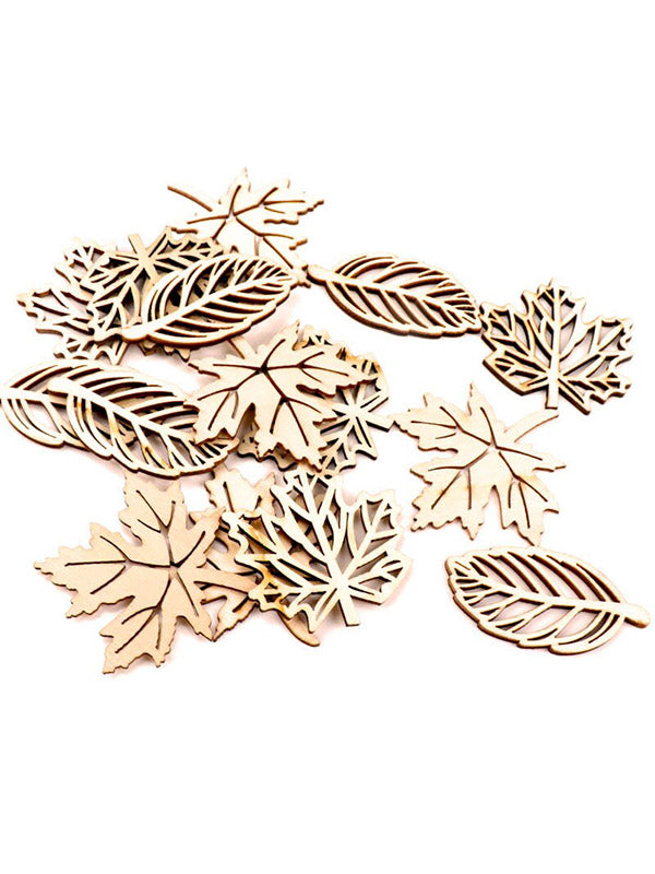 Burlywood Hollow Maple Leaves Painted Graffiti Accessories